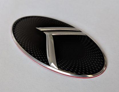 steering wheel emblem side