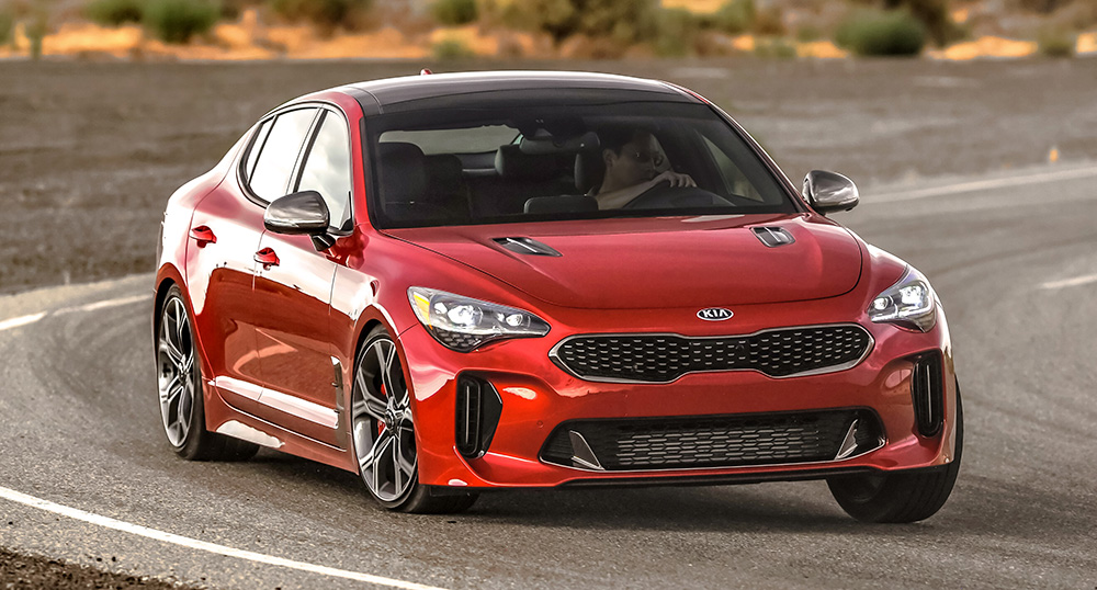 kia stinger gt in red